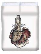 Human Heart, 1543 Duvet Cover