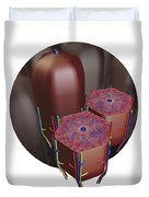 Human Liver Lobules, Cross-section Duvet Cover