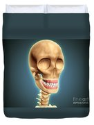 Human Skeleton Showing Teeth And Gums Duvet Cover by Stocktrek Images