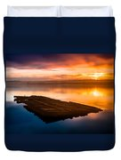 Humboldt Bay Spring Sunrise Duvet Cover