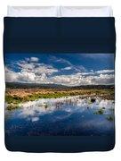 Humboldt Marshes In Spring Duvet Cover