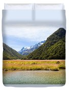 Humboldt Mountains Seen From Routeburn Track Nz Duvet Cover