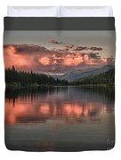 Hume Lake Sunset Duvet Cover