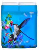 Hummer And Flowers On Acrylic Duvet Cover