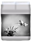 Hummingbird Black And White Duvet Cover