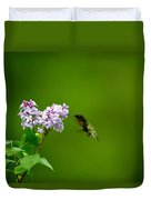 Hummingbird And Lilac Duvet Cover