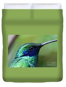 Hummingbird Closeup Duvet Cover