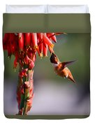 Hummingbird Feast  Duvet Cover