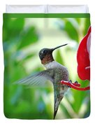 Hummingbird Male Ruby Throated  Duvet Cover