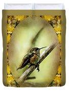 Hummingbird Noveau Duvet Cover