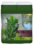 Hummingbird Still Life Duvet Cover