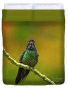 Hummingbird With A Lilac Crown Duvet Cover