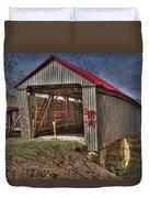 Artistic Humpback Covered Bridge Duvet Cover