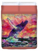 Humpback Whale Digital Color Duvet Cover