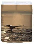 Humpback Whale Feeding Duvet Cover