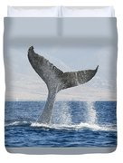 Humpback Whale Fluking Its Tail Duvet Cover