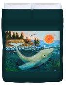 Humpback Whales In Santa Cruz Duvet Cover