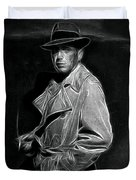 Humphrey Bogart - Pencil Duvet Cover