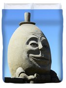 Humpty Dumpty Sand Sculpture Duvet Cover by Bob Christopher