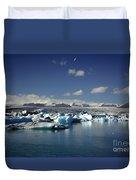 Hundreds Of Icebergs Duvet Cover