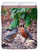 Hungry Baby Robin Duvet Cover