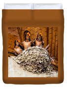 Hungry Baby Swallows - Antelope Island - Utah Duvet Cover by Gary Whitton