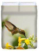Hungry Flowerbird Duvet Cover