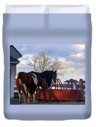 Hungry Horses Duvet Cover