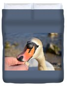 Hungry Swan Duvet Cover