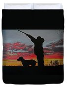 Hunting At Sunset Duvet Cover
