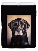 Hunting Buddy Black Lab Duvet Cover
