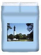 Hunting Island Lighthouse Sc Duvet Cover