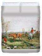 Hunting Scene Duvet Cover