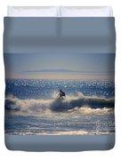 Huntington Beach California Surfer Duvet Cover