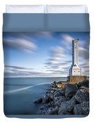 Huron Harbor Lighthouse Duvet Cover