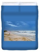 Hurricane Isaac Impacts Navarre Beach Duvet Cover