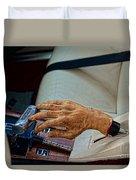 Hurst Shifter And Hand Brake Duvet Cover