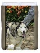 Husky Tulip Time Duvet Cover