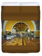 Hussel And Bussel At The Union Train Station Los Angeles Ca Duvet Cover