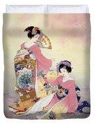 Hutari Mai Duvet Cover by Haruyo Morita
