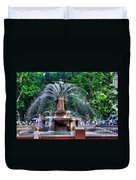 Hyde Park Fountain Duvet Cover