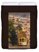 Hyde Street Cable Car Duvet Cover