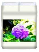 Hydrangea In Watercolor Duvet Cover
