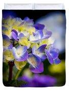 Purple Blue Hydrangea, Corona Del Mar California Duvet Cover