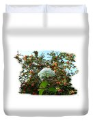 Hydrangea With Mountain Ash Duvet Cover