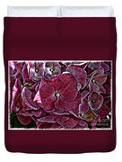 Hydrangeas In Rich Rose Color Duvet Cover