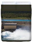 Hydro Power Station Dam Open Gate Spillway Water Duvet Cover
