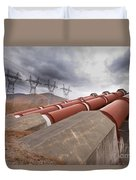 Hydroelectric Plant In Renewable Energy Concept Duvet Cover