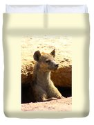 Hyena In Den Duvet Cover
