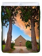 Hygiene Colorado Church Of The Brethren 1880 Sunset Duvet Cover